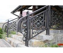 Коване огородження сходів екстер`єрне А4105