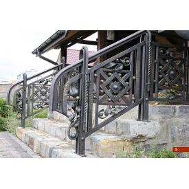 Кованое ограждение лестницы экстерьерное А4105