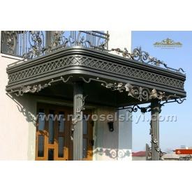 Кований дашок з колонами А5106
