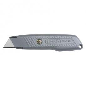 Нож STANLEY с выдвижным трапецевидным лезв в металл корпусе