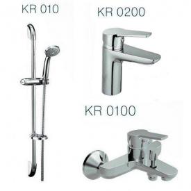 Набор смесителей для ванны KVADRO (KR0200+KR0100+KR010)
