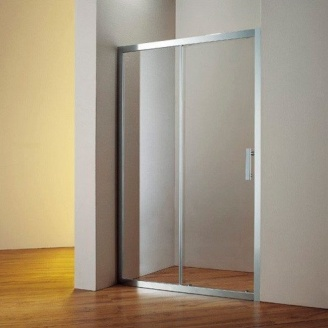 Душевые двери двухэлементные 1200х1900 (HP120X chrome clear)