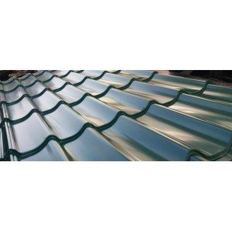 Металлочерепица Монтеррей глянцевая 1100/1180 мм 1905 мм зеленая