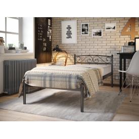 Металеве ліжко VERONA-1 80х190 см чорне