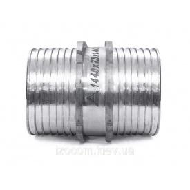 Пресс-муфта равнопроходная нержавеющая сталь без гильз 25 мм