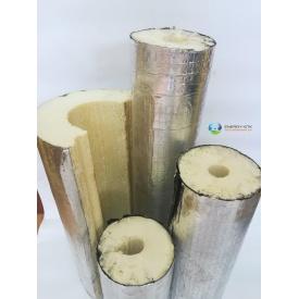 Утеплитель для труб из пенополиуретана с фольгопергамином для наружного применения 18х43 мм