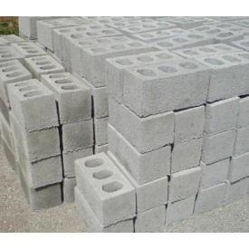 Шлакоблок сухо-вибропрессованный 390х190х190 мм