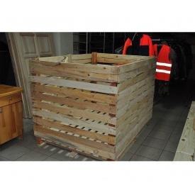 Контейнер овочевий дерев'яний розбірний 1200х1200х1600 мм