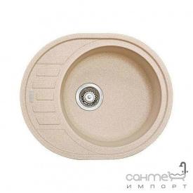 Гранітна кухонна мийка Fabiano Arc 62х50 Cream/Кремовий