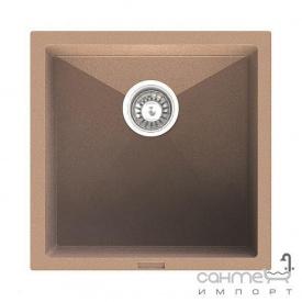 Гранітна кухонна мийка Fabiano Quadro 45х40 Beige/Пісочний