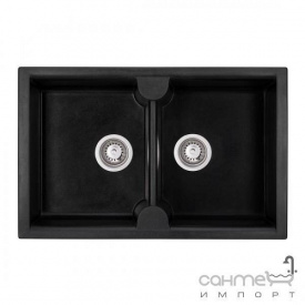 Гранитная кухонная мойка Granado Cordoba black shine