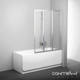 Шторка для ванны Ravak VS3-130 сатин/прозрачное (стекло) 795V0U00Z1