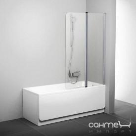 Шторка для ванны Ravak CVS2-100 R сатин/прозрачное 7QRA0U00Z1 правая