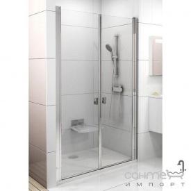 Душові двері Ravak Chrome CSDL2-90 білий/прозорий 0QV7C10LZ1