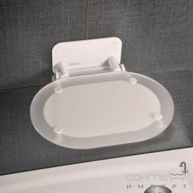 Сидіння для ванної кімнати Ravak Chrome прозоре, конструкція біла B8F0000028