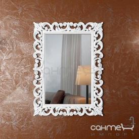 Декоративне дзеркало для ванної кімнати Marsan Angelique 750х1000 білий глянець