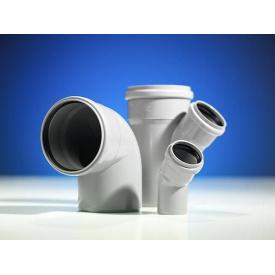Колено 45 градусов канализационной трубы PipeLife Comfort 50 мм