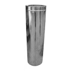Труба дымохода в кожухе из оцинкованной стали 140x1000 мм 0,8 мм