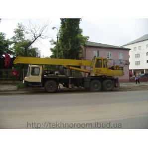 Оренда автокрана Дніпро КС 5473 25 тонн 24 метри