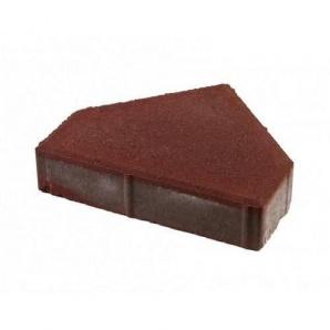 Тротуарная плитка UNIGRAN Пирамида стандарт красная 280х240 мм