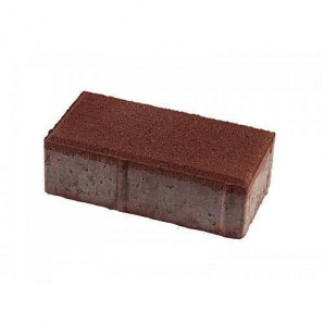 Тротуарная плитка UNIGRAN Кирпич стандарт красная 200х100х60 мм