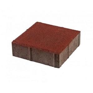 Тротуарная плитка UNIGRAN Квадрат стандарт красная 200х200х60 мм