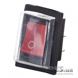 Переключатель YL208-01 1-клавишный красная клавиша с защитой АскоУкрем