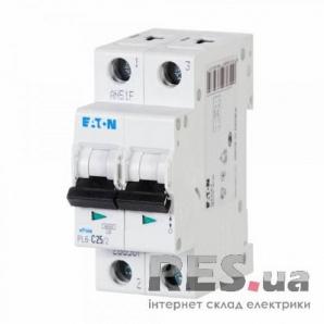 Автоматический выключатель PL6-C25/2 25А 2-полюсный Eaton