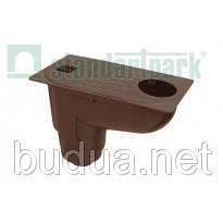 Дождеприемник PolyMax Basic 30.16 пластиковый с вертикальным отводом /коричневый/
