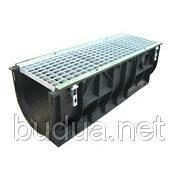 Лоток PolyMax Basic 30.39.38 пластиковый с решеткой ячеистой чугунной ВЧ (комплект)