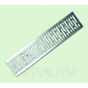 Решетка Basic 20.24.100 штампованная, нержавеющая сталь