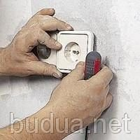 Отключение и демонтаж розеток, выключателей, светильников.