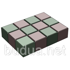 "Тротуарная плитка ""Евро"" серый, 60мм, 75х75мм"