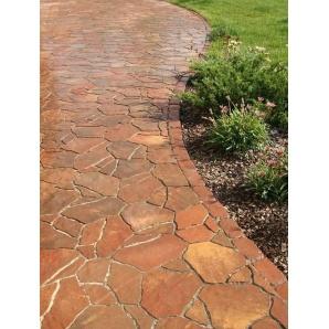 Тротуарная плитка Золотой Мандарин Песчаник 6 см колор микс