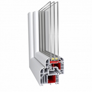 Метаттлопластиковое окно Aluplast IDEAL 8000 round-line