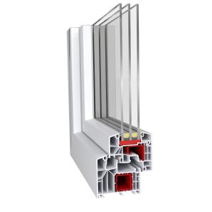 Метаттлопластіковое вікно Aluplast IDEAL 8000 classic-line