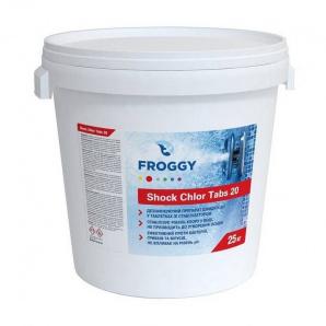 Хлор FROGGY Shok Chlor Tabs 20 25 кг