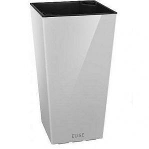 Умный вазон ELISE глянцевый 15х15х26 см белый