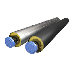 Теплоизолированная труба для теплотрасс в ПЭ оболочке 920х1100 мм
