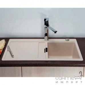 Гранітна кухонна мийка Schock Cristadur Horizont D100 правобічна 82 earth
