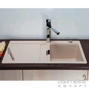 Гранітна кухонна мийка Schock Cristadur Horizont D100 правобічна 97 magma