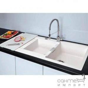 Гранітна кухонна мийка Schock Cristadur Signus D200 оборотна 99 polaris