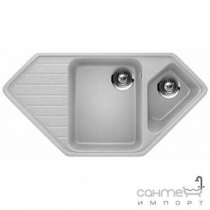 Гранітна кухонна мийка Schock Cristadur Signus C150 правобічна 82 earth