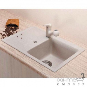 Гранітна кухонна мийка Schock Cristalite Genius D100 S оборотна 41 basalt