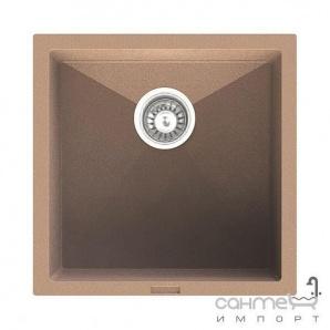 Гранітна кухонна мийка Fabiano Quadro 45х40 Antracit/Антрацит