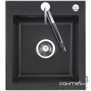 Керамічна кухонна мийка SystemCeram Mera 46 A Nero-68