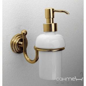 Дозатор рідкого мила підвісний Pacini & Saccardi Rome 30046/Про золото