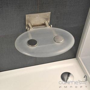 Сидіння для ванної кімнати Ravak Ovo P clear B8F0000000