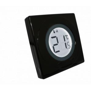Сенсорний терморегулятор чорний Salus S-line ST320PB (5060103691319)