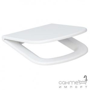 Сидіння з кришкою для унітазу Cersanit Colour Soft-Close, біле